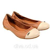 Отличные балетки женские кожаные интернет магазин балеток 38 размер и любой другой! Арт.5018brown