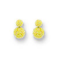Яркие серьги с камнями Диор Mise en Dior Арт.030SRyellow интернет-магазин серег дешево