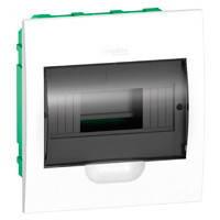 Щит Easy9 пластиковый встраиваемый с дымчатой дверцей, 8 модулей, (1х8)