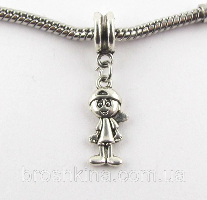 Шарм-подвеска Мальчик для браслета Pandora (пандора) под серебро
