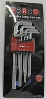 Набор шестигрнных ключей 9 ед FORCE F-5093L
