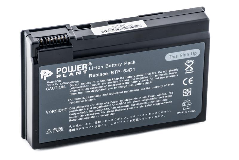 Аккумулятор PowerPlant для ноутбуков ACER TravelMate C300 (BTP-63D1 AC-63D1-8) 14.8V 5200mAh