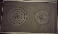 Плита чугунная 2-х конфорочная 400х700 (усиленная)