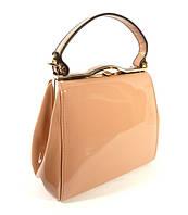 Лаковая сумочка цвета пудры в наличии, тренд года, расцветки