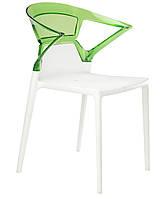 Кресло Ego-K сиденье белое верх прозрачно-зеленый