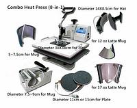Многофункциональный термопресс 8 в 1 BestSub SD72 ( планшетная плита: 300х380 мм )