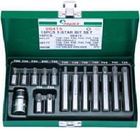 Набор бит TORX (30/75 мм), Т20-Т55 15 предметов