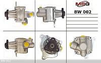 Насос Г/У BMW 3 E-30 1982-1992,BMW 3 E-36 1990-2000,BMW 5 E-34 1988-1996,OPEL OMEGA B 94-03   MSG - BW 002