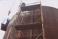Перенос резервуаров вертикальных стальных цилиндрических РВС 100 - 5000 кубических метров   Процесс демонтажа