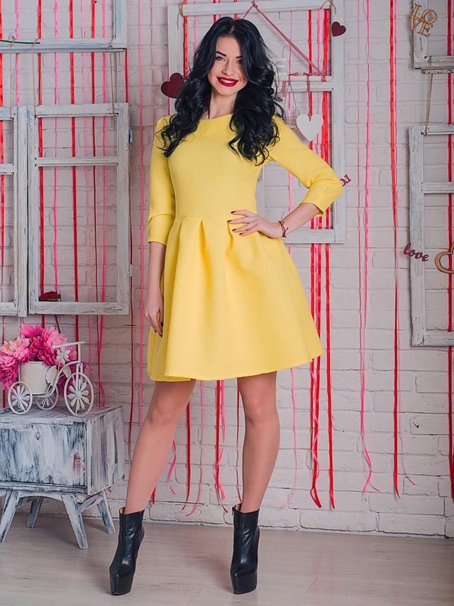 платье солнечного цвета, желтое платье, яркое платье