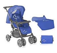 Коляска прогулочная Bertoni COMBI  DAWN BEIGE (+сумка для продуктов+накидка на ножки) Синий