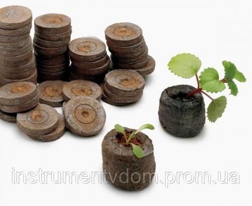 Торфяные таблетки Jiffy для рассады диаметром 41 мм, Норвегия (упаковка 50 шт)