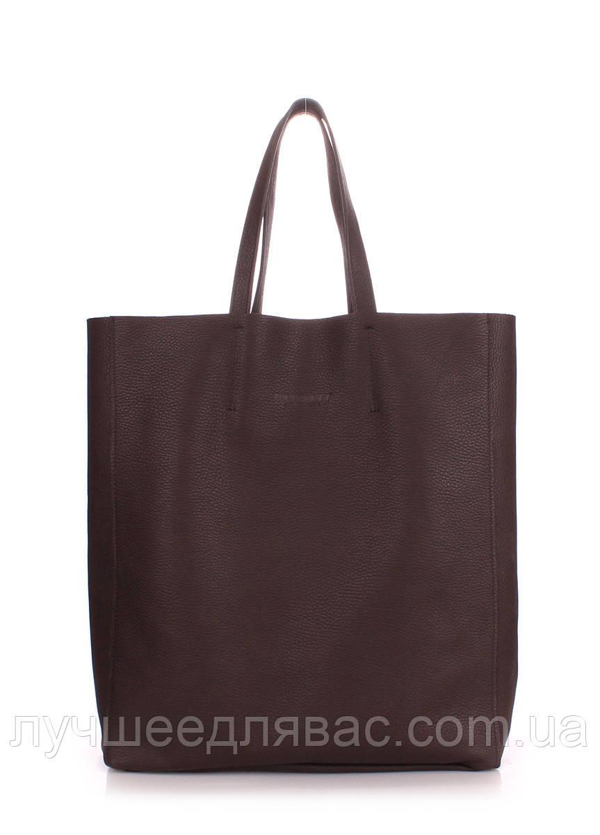 Кожаная сумка poolparty city-brown, фото 1