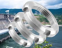 Гайка круглая шлицевая М10 DIN 981, ГОСТ 11871-88