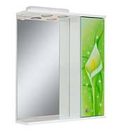 Зеркало для ванной комнаты с подсветкой Салатовые каллы-60( правое и левое)
