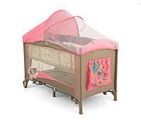 Кровать-манеж Milly Mally Mirage Deluxe  (цвет - pink cow), фото 1