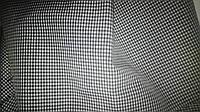 Ткань черно-белая клеточка мелкая