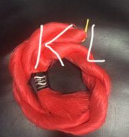 "Волос для кукол, синтетика. Модель - ""Карина  KL"".  На трессе"