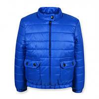 Практичная качественная весенняя куртка на девочку Моне. 122, синий