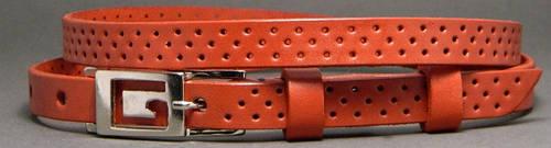 Роскошный женский ремень из натуральной кожи Трио 1,5 см Svetlana Zubko 3F15327 рыжий