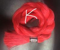 "Волос для кукол, синтетика. Модель - ""Карина  K"".  На трессе"
