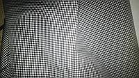 Рубашечная  ткань черно-белая клетка 1-2 мм