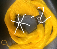 "Волос для кукол, синтетика. Модель - ""Карина  Ж-2"".  На трессе"