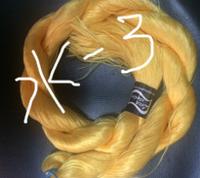 "Волос для кукол, синтетика. Модель - ""Карина  Ж-3"".  На трессе"