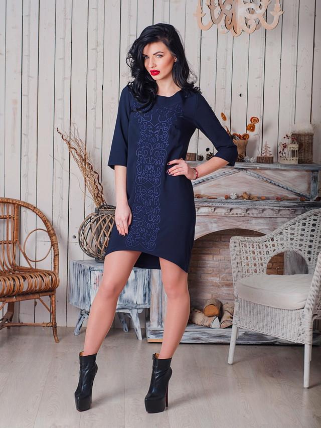стильное платье с вишивкой, модная современная вышивка на платье