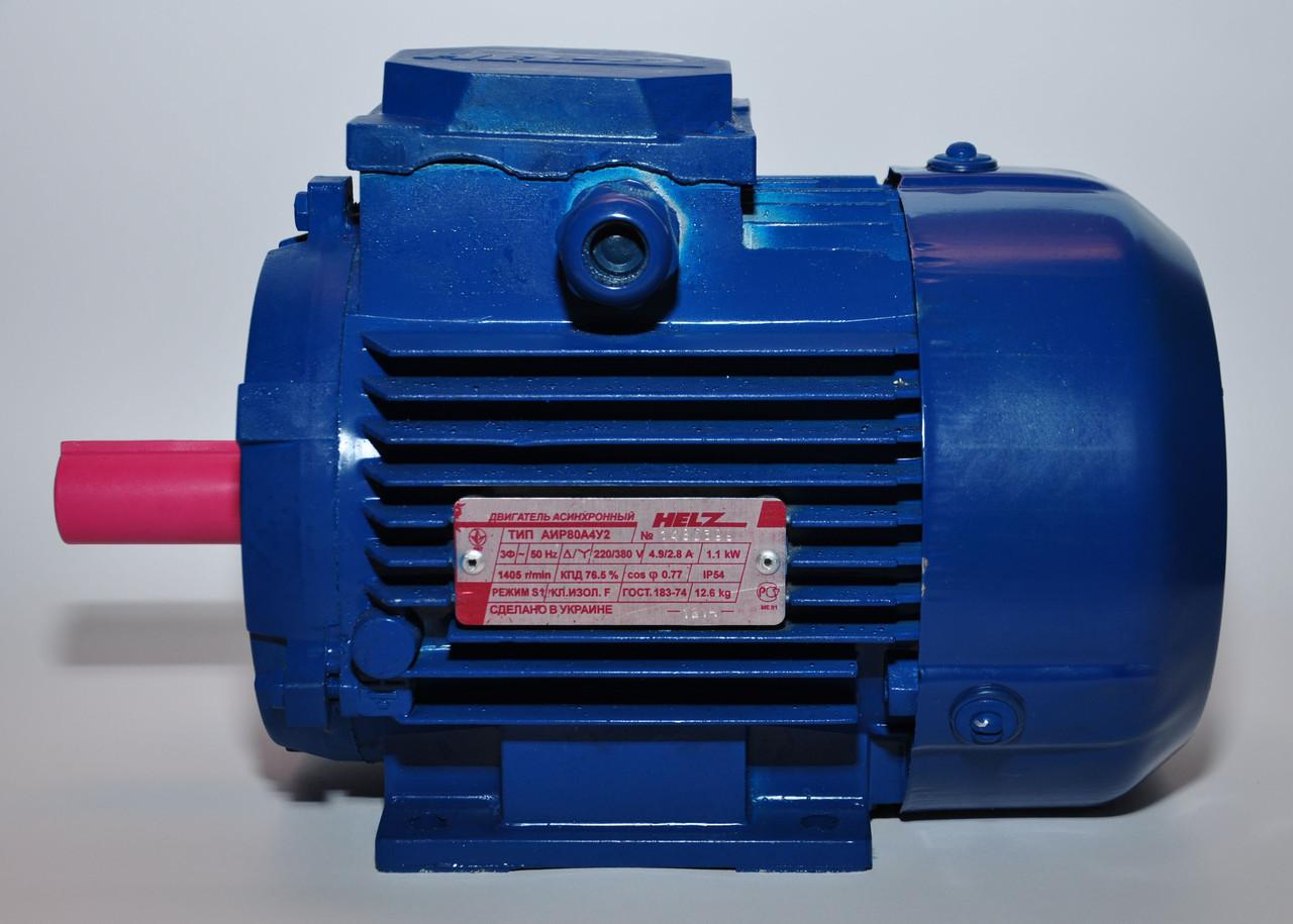 Электродвигатель многоскоростной АИР90L6/4 (1,32/1,65кВт-1000/1500об/мин) 220/380В, 380В