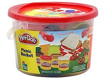 "Плей-Дох ведерко пластилина 4б ""Пикник"" Play-Doh (23414), фото 1"