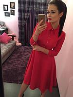 Офисное платье-рубашка, фото 1