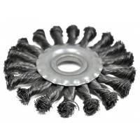 Щетка-крацовка радиальная, плоская, закрученная 115х16 мм