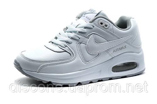 Кроссовки Найк Air Max 90,унисекс, пресскожа, белые