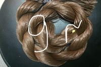 """Волос для кукол, синтетика. Модель - """"Карина 9"""".  В срезе."""