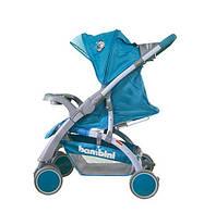 Коляска прогулочная Bambini MARS (+накидка на ножки) Голубой