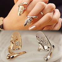 Кольцо на ноготь Стрекоза. Золото, серебро