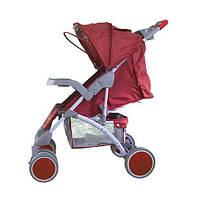 Коляска прогулочная Bambini King (+накидка на ножки) Красный (клубничка)