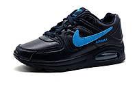 Кроссовки подросток, женские, Найк Air Max 90,унисекс, пресскожа, темно-синий, р. 37 38