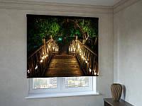 Рулонные шторы романтический мостик