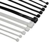Стяжка (хомут) кабельная, 4*370, черная,белая