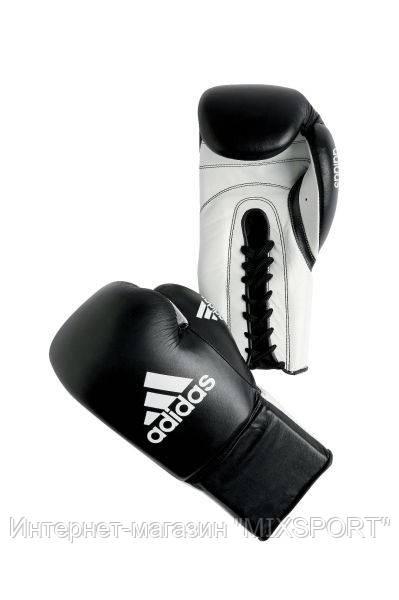 """Боксерские перчатки Adidas """"KOMBAT"""" (черно-белые) 8 oz"""