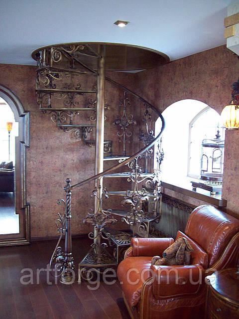 """Кованые лестницы. Кованая винтовая лестница """"Классик"""""""
