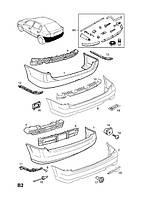 Абсорбер (поглотитель ударов, наполнитель) заднего бампера OPEL ASTRA-G ESTATE,VAN (F35,F70) караван, ван Opel 1400188 1400188  /