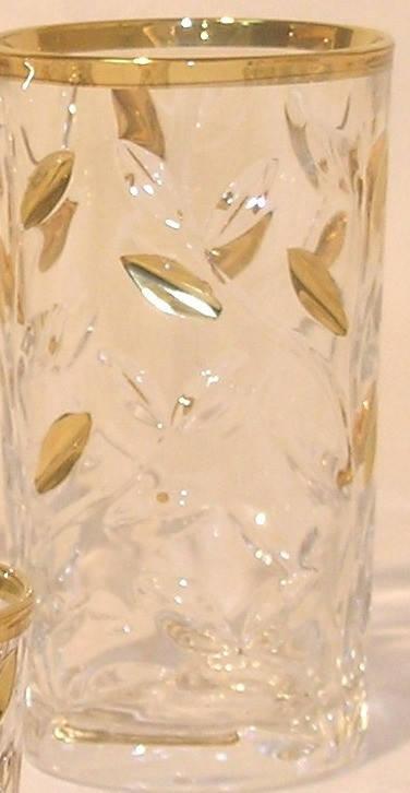 Набор стаканов для сока Laurus с золотом