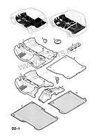 Коврик резиновый багажного отделения OPEL COMBO F25 2219960 13176695 9116399 Opel 2219960