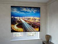 Рулонные шторы ночная магистраль
