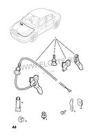 Трос открывания замка капота OPEL VECTRA-C SIGNUM Opel 6178456 6178456  /