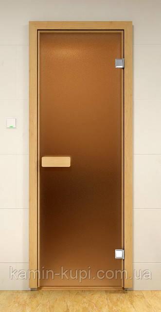 Стеклянная дверь для сауны и бани ALDO 790х2090 мм, фото 1