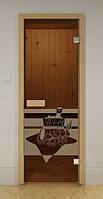 Стеклянная дверь для сауны и бани БАННЫЙ ДЕНЬ ALDO 690х1890 мм, фото 1